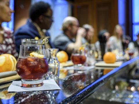 A bourbon tasting event in Louisville, Kentucky